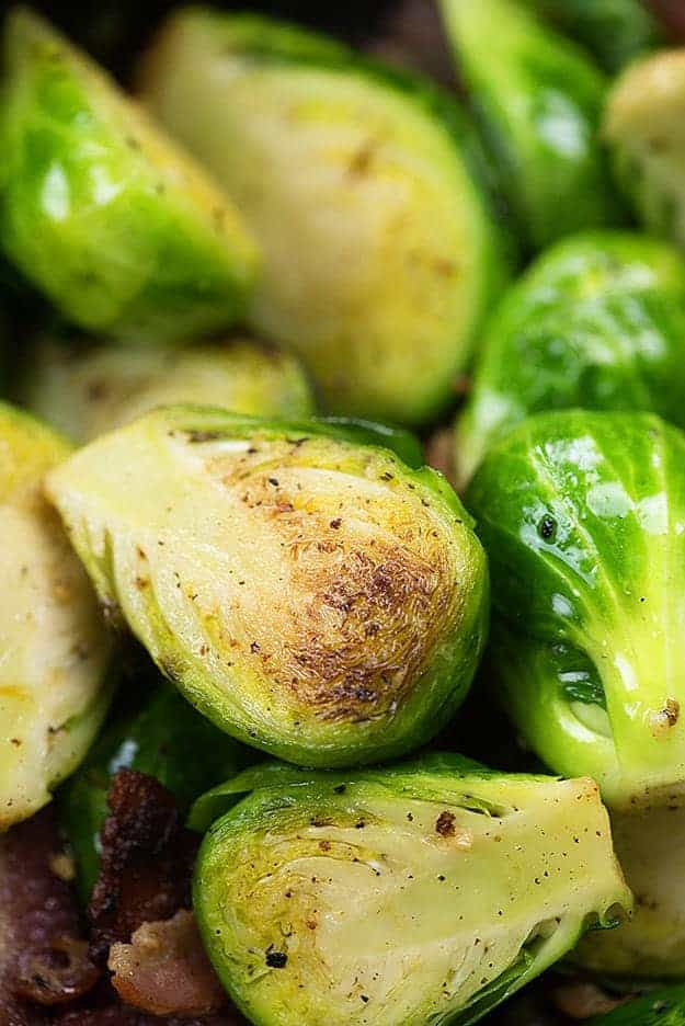 How to cook Brussel sprouts with bacon!