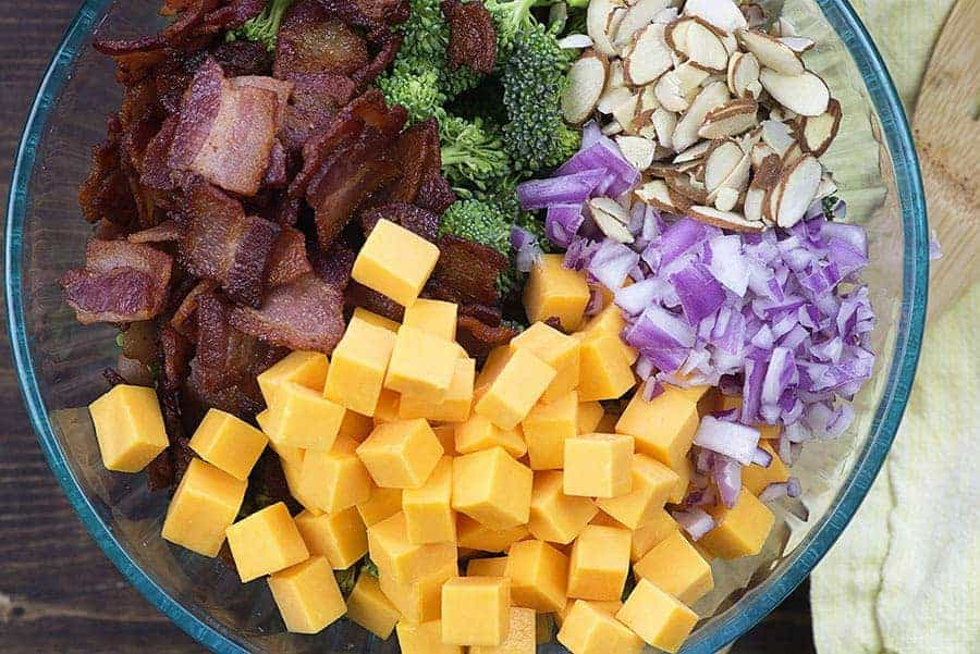 Keto Broccoli Salad Recipe With Bacon Cheddar