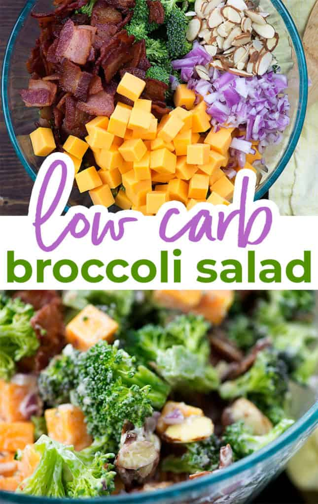 broccoli salad photo collage