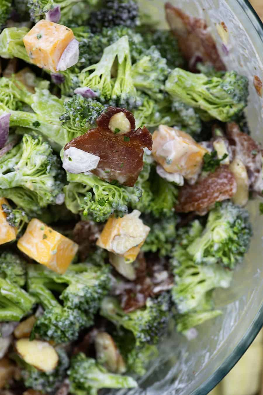 Broccoli Salad with Bacon from ThatLowCarbLife.com!