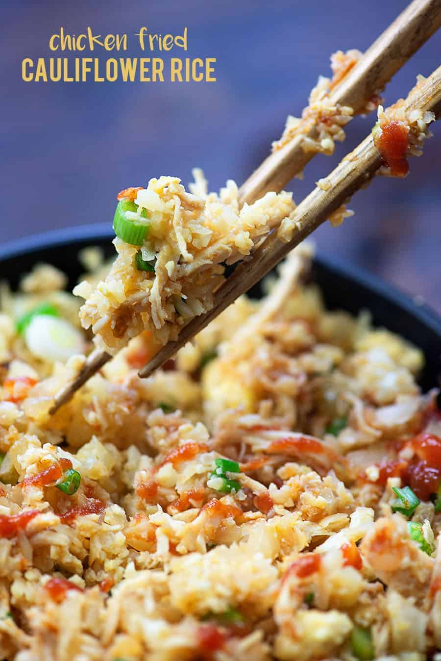 Low carb chicken fried cauliflower rice! Skip the takeout! #recipe #lowcarb #keto #lchf