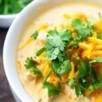 close up of keto instant pot soup