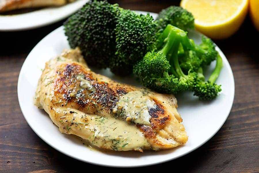 Creamy Lemon Chicken With Garlic That Buttery Lemon Sauce Is Amazing