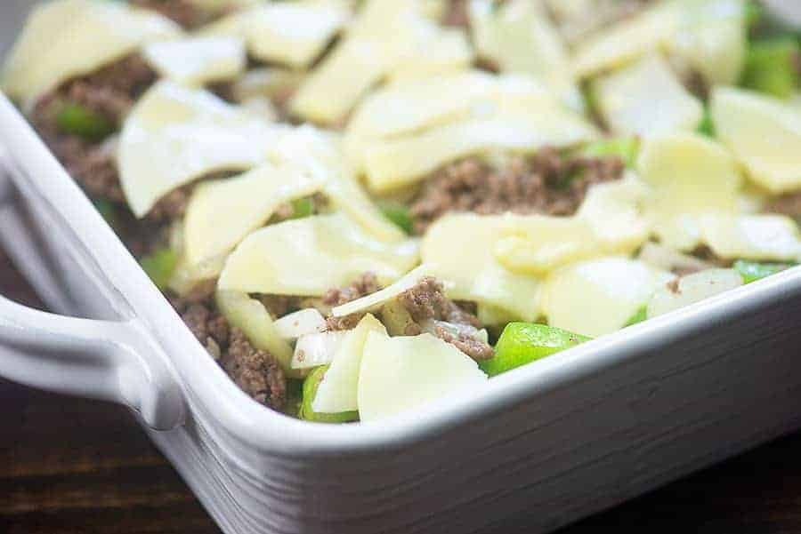 Philly Cheese Steak Casserole | That Low Carb Life