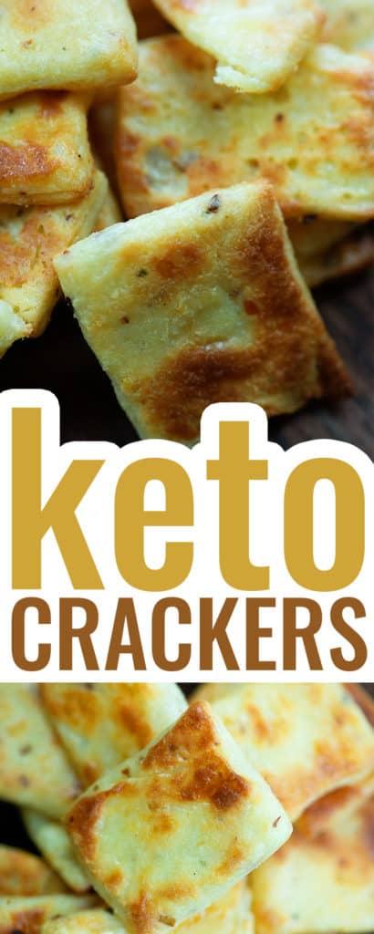 keto crackers recipe collage