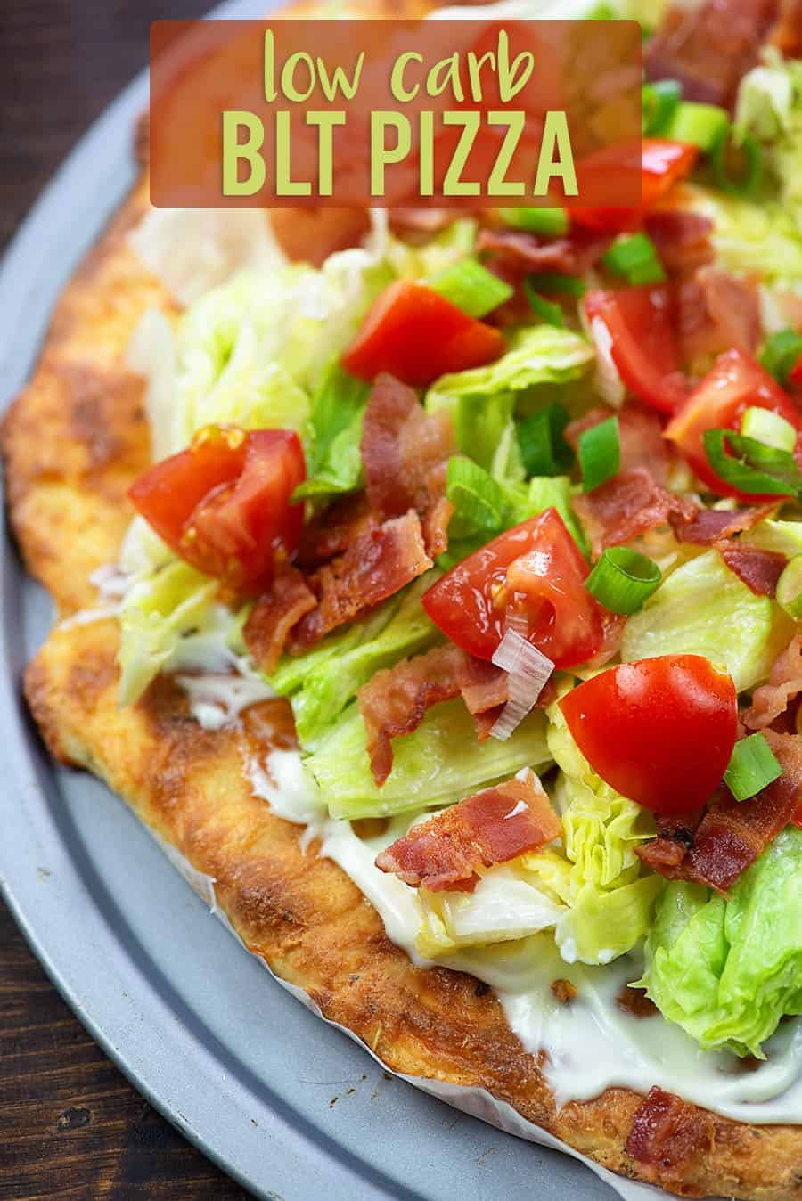 BLT pizza on pizza pan