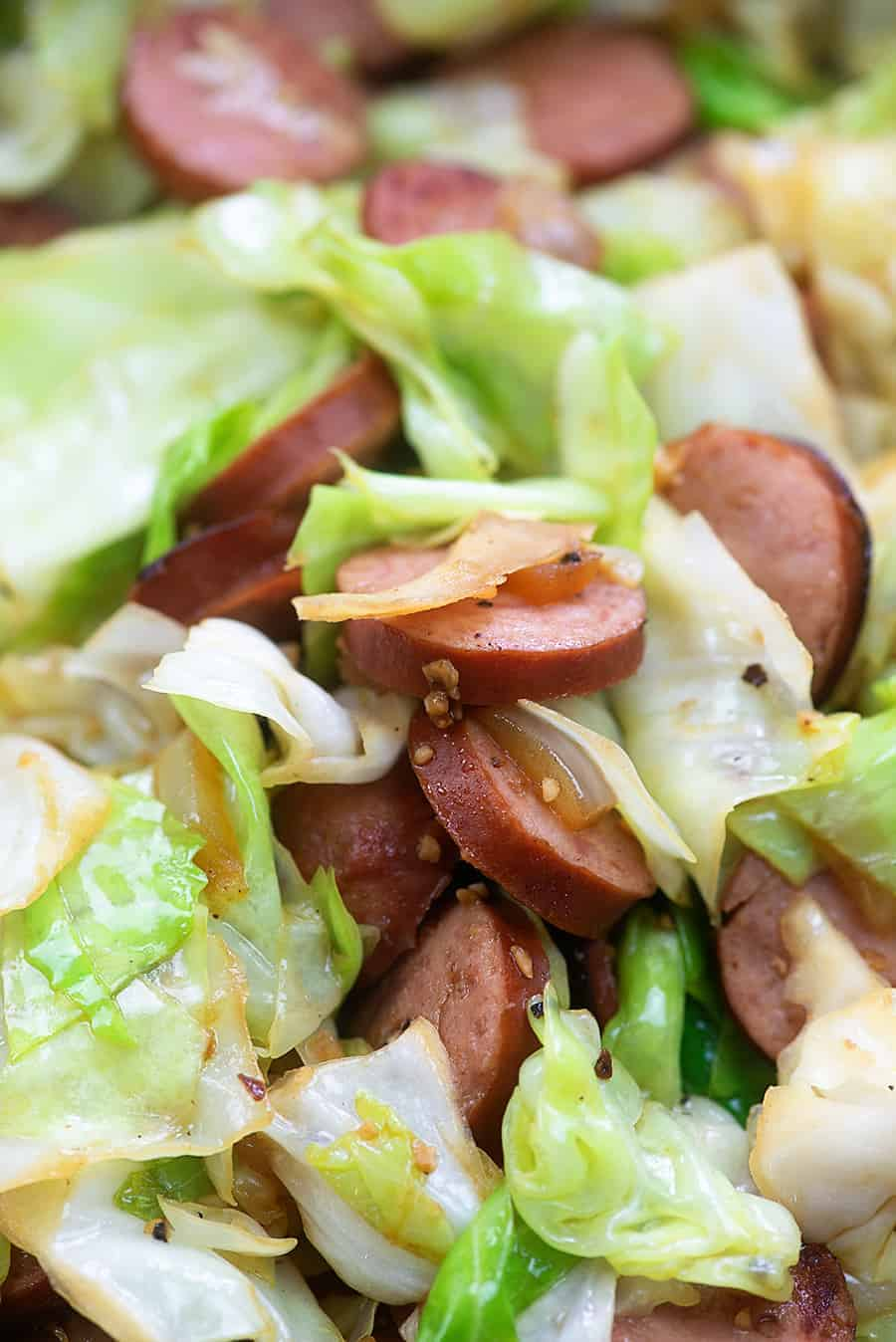 Smoked Sausage Fried Cabbage That Low Carb Life