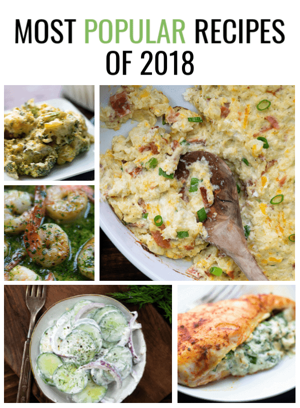 The most popular low carb recipes of 2018 at thatlowcarblife.com! #lowcarb #keto