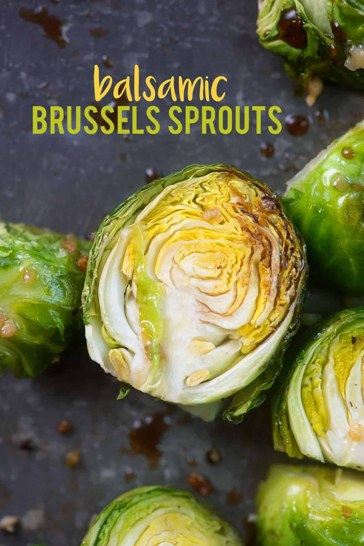 Balsamic Roasted Brussels Sprouts! This recipe is my favorite way to eat brussels sprouts! So much flavor and really easy too! #lowcarb #keto #brusselssprouts #recipe