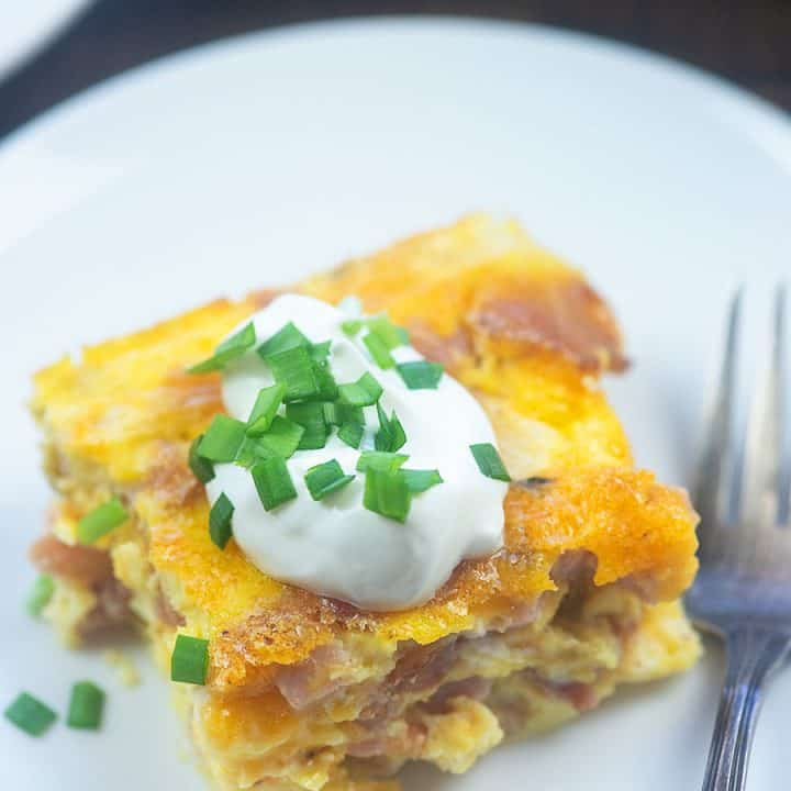 Breakfast Casserole with Ham