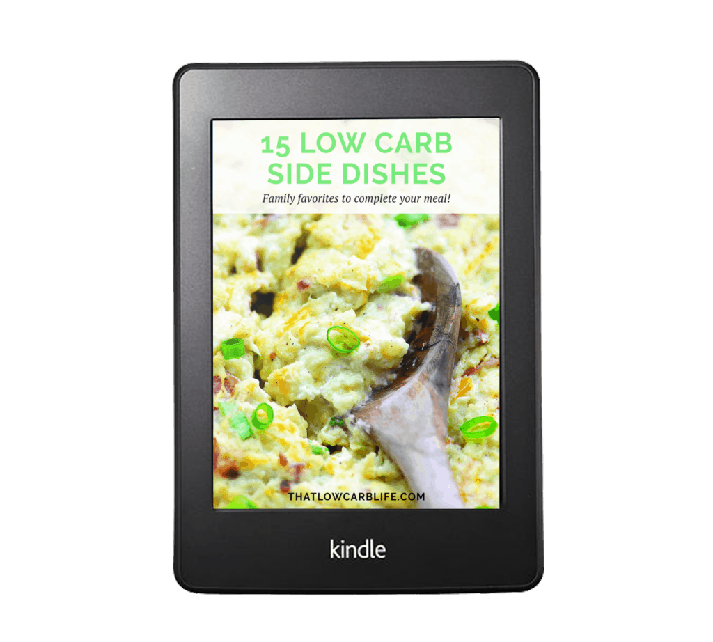low carb side dish ebook.
