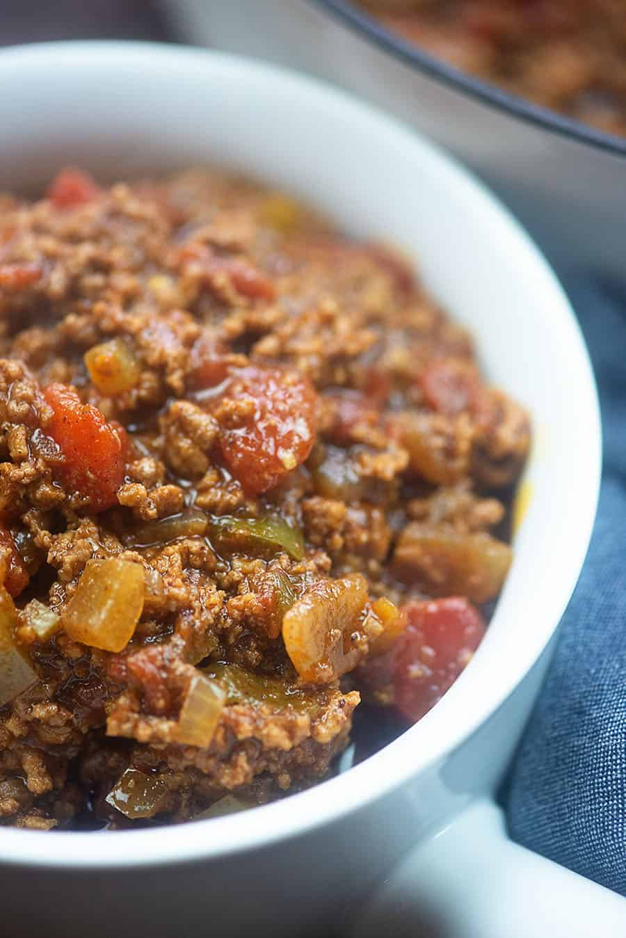 This keto chili recipe is plenty hearty and filling without the beans. Bet you don't even miss them.