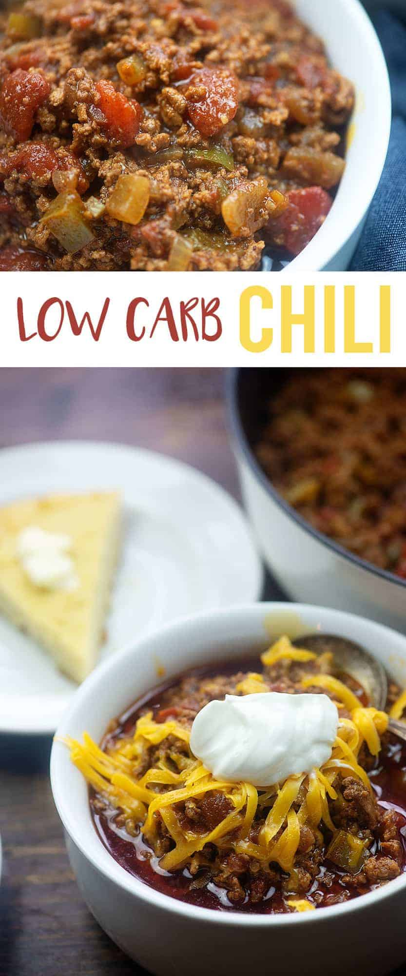 We've replaced our traditional chili recipe with this low carb chili and even the carb-lovers devour this one! It's seriously just the best chili ever!