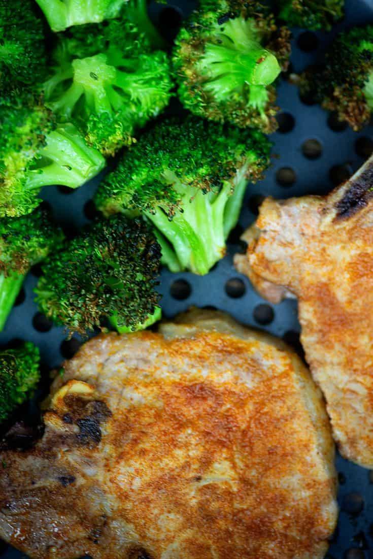 Air Fryer Pork Chops & Broccoli
