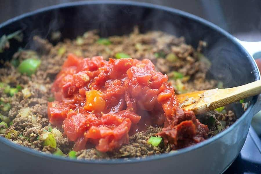 Simmer your chili for as you'd like…the longer it cooks the more flavorful it gets and the more tender the beef gets.