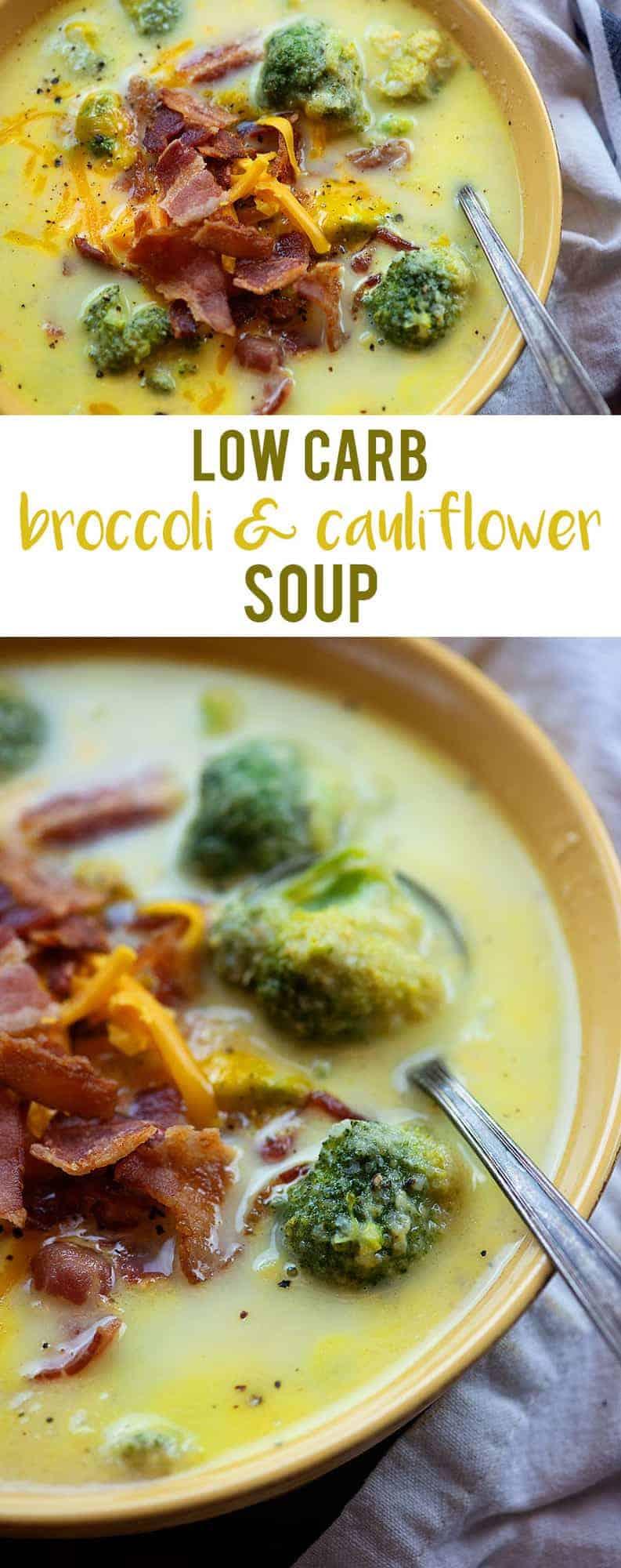Broccoli Cauliflower Soup That Low Carb Life