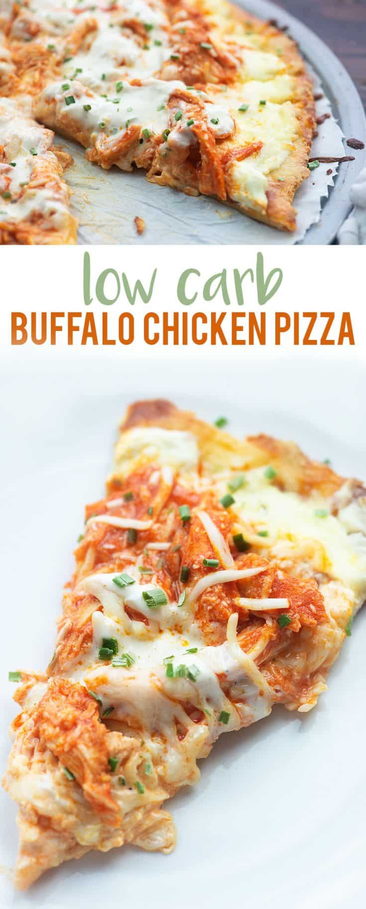 Low Carb Buffalo Chicken Pizza!! #keto #lowcarb #pizza