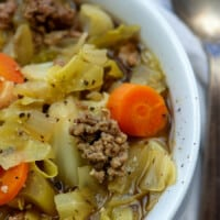 Crockpot Cabbage Soup with Beef