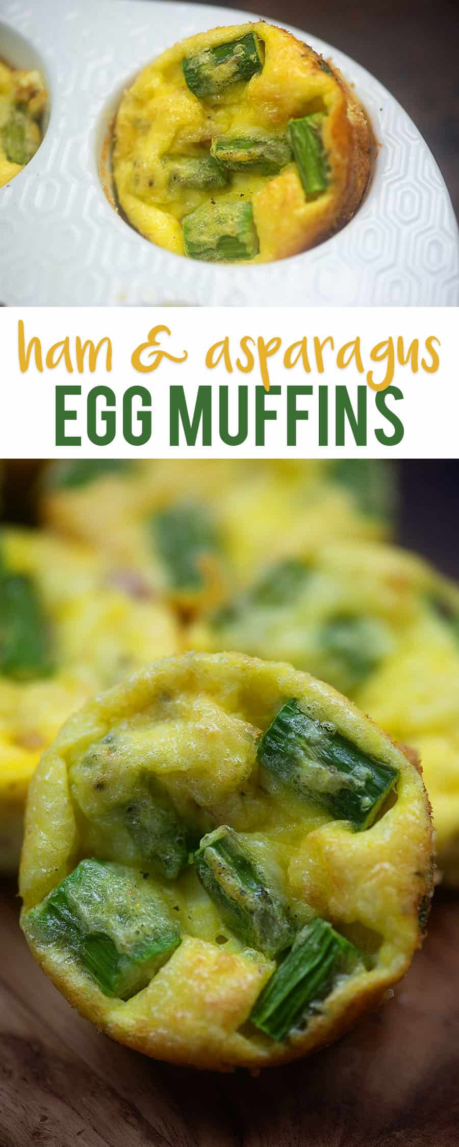 Ham and Asparagus Quiche Bites! Easy to grab and go and so full of flavor! 2 carbs per muffin. #keto #lowcarb #lowcarbbreakfast
