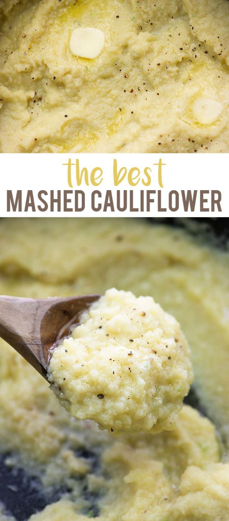 The BEST mashed cauliflower - so creamy and easy to whip up! #lowcarb #keto #cauliflower
