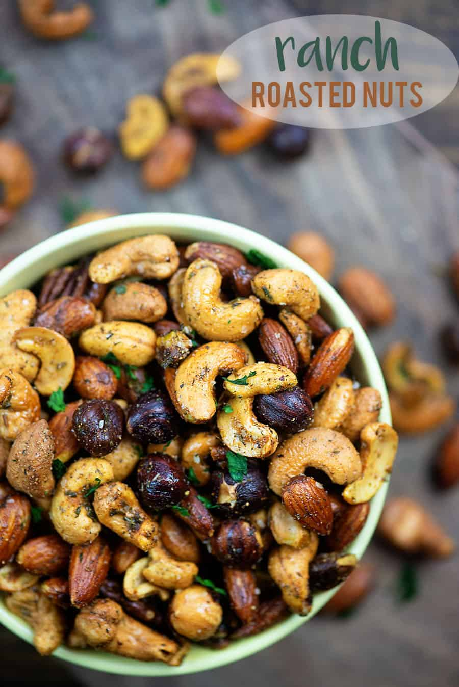 Ranch Roasted Nuts! This little snack is low carb and so simple to make! #lowcarb #keto #easy #recipes