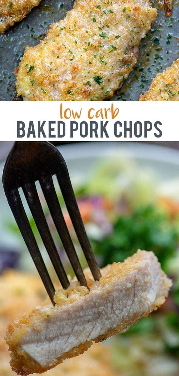 Breaded Pork Chops - low carb and so easy! Family friendly too! #lowcarb #keto #porkchops