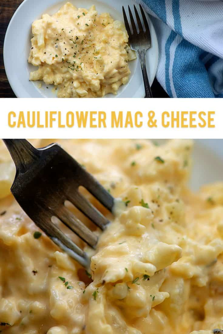 Low carb cauliflower mac and cheese - this one tastes close enough to the real deal that my kids beg for it! #lowcarb #keto #cauliflower #recipe