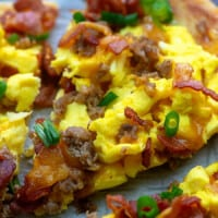 Meat Lovers Breakfast Pizza