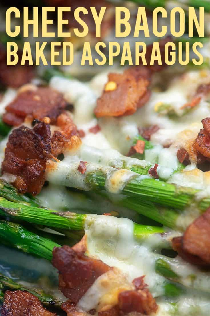 Low carb side dish: Cheesy baked asparagus! Ready in about 20 minutes! #keto #lowcarb #asparagus