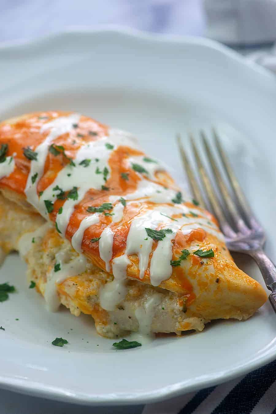 Buffalo Ranch Stuffed Chicken That Low Carb Life