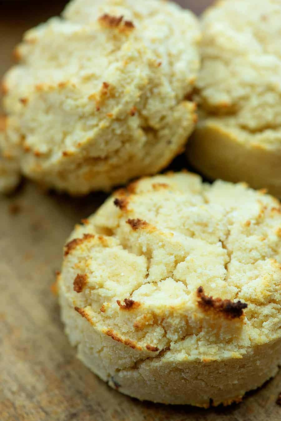 three low carb biscuits
