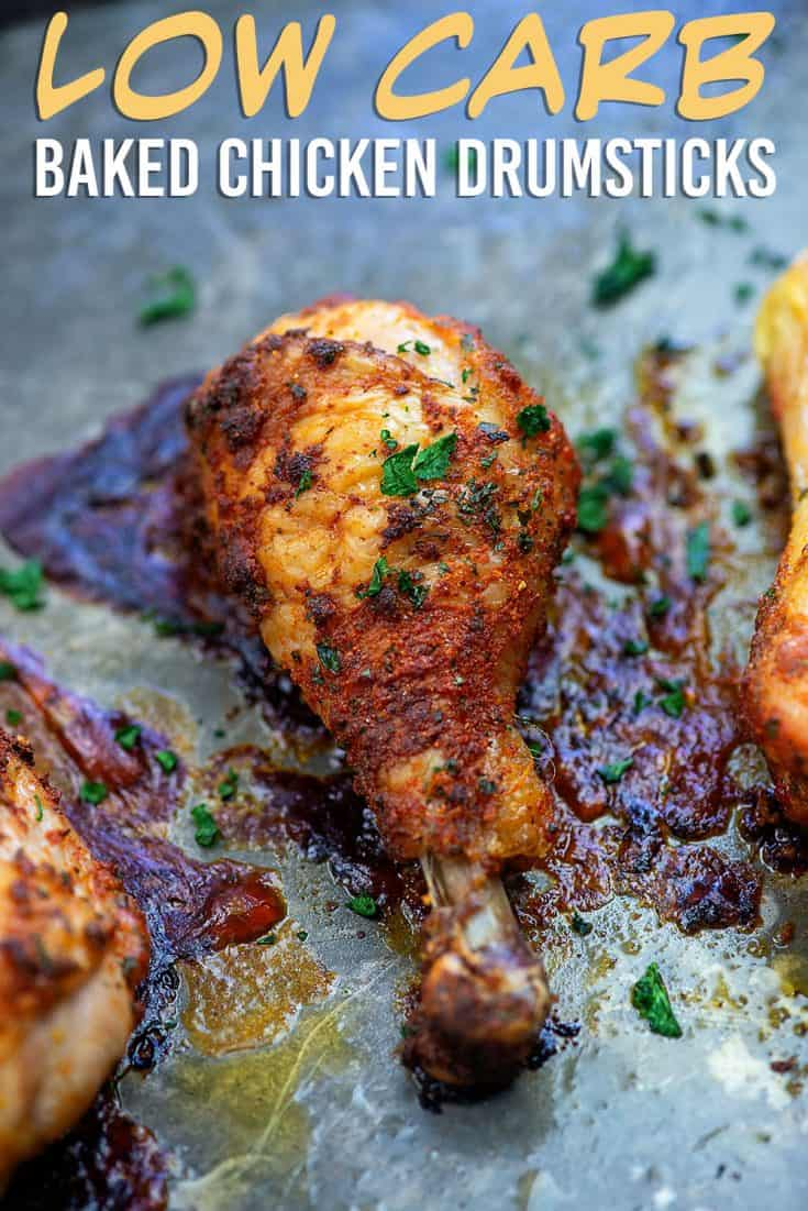 Baked Chicken Drumsticks With Crispy Skin And Juicy Chicken