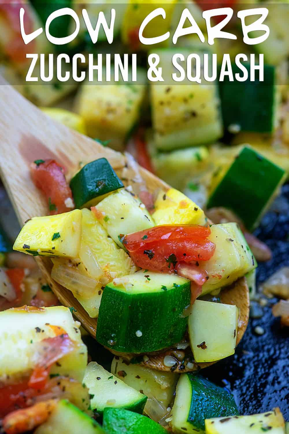 Sauteed Zucchini and Squash - this low carb side dish just tastes like summer and it's ready in about 15 minutes too! #lowcarb #keto #zucchini