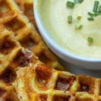 Hot Ham & Cheese Chaffles