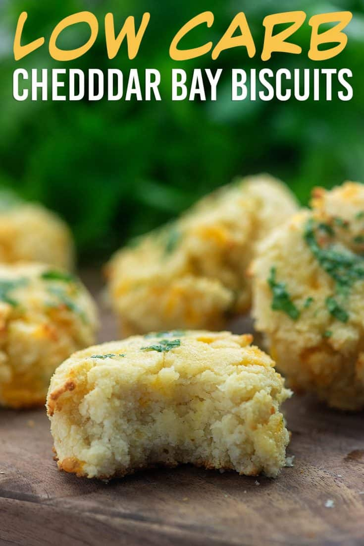 Keto Cheddar Bay Biscuits! So buttery and they melt in your mouth! #lowcarb #keto #biscuits