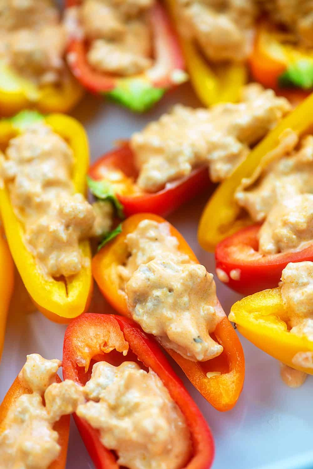 buffalo filled mini sweet peppers