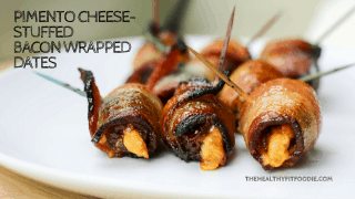 Pimento Cheese-Stuffed Bacon Wrapped Dates #SundaySupper