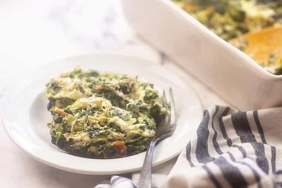 cheesy spinach souffle recipe
