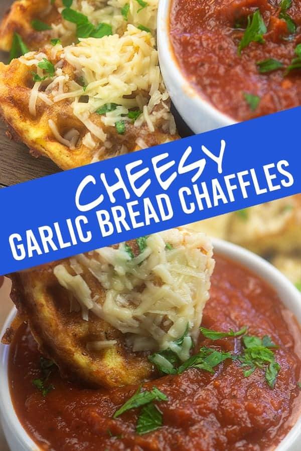 Garlic Bread Chaffles - the easiest low carb garlic bread you'll ever make! #chaffles #keto #lowcarb #garlic