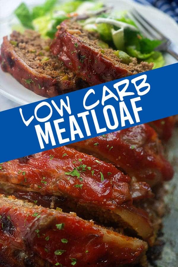 A close up of low carb meatloaf on a plate.