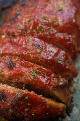 low carb meatloaf recipe with ketchup sauce