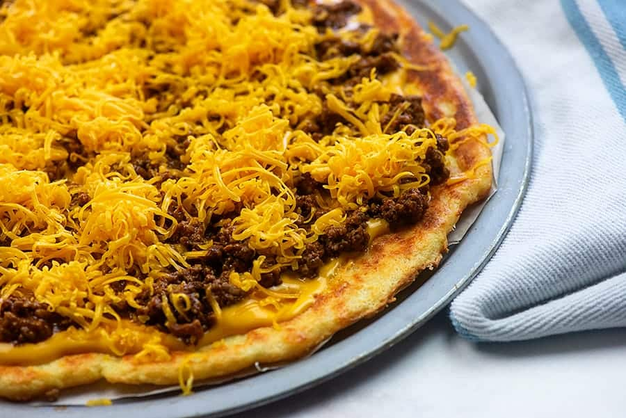 how to make taco pizza low carb