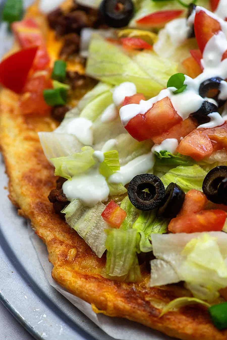 low carb taco pizza