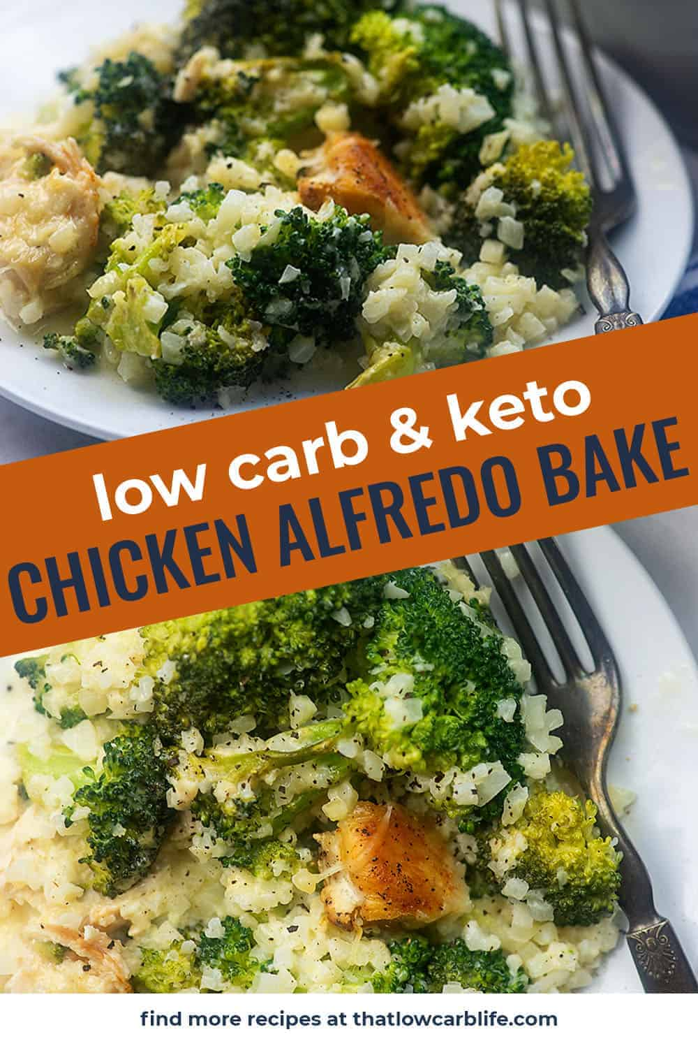 Keto Chicken Alfredo Casserole! This recipe is popular with my whole family -everyone loves Alfredo! #keto #lowcarb #chicken #casserole