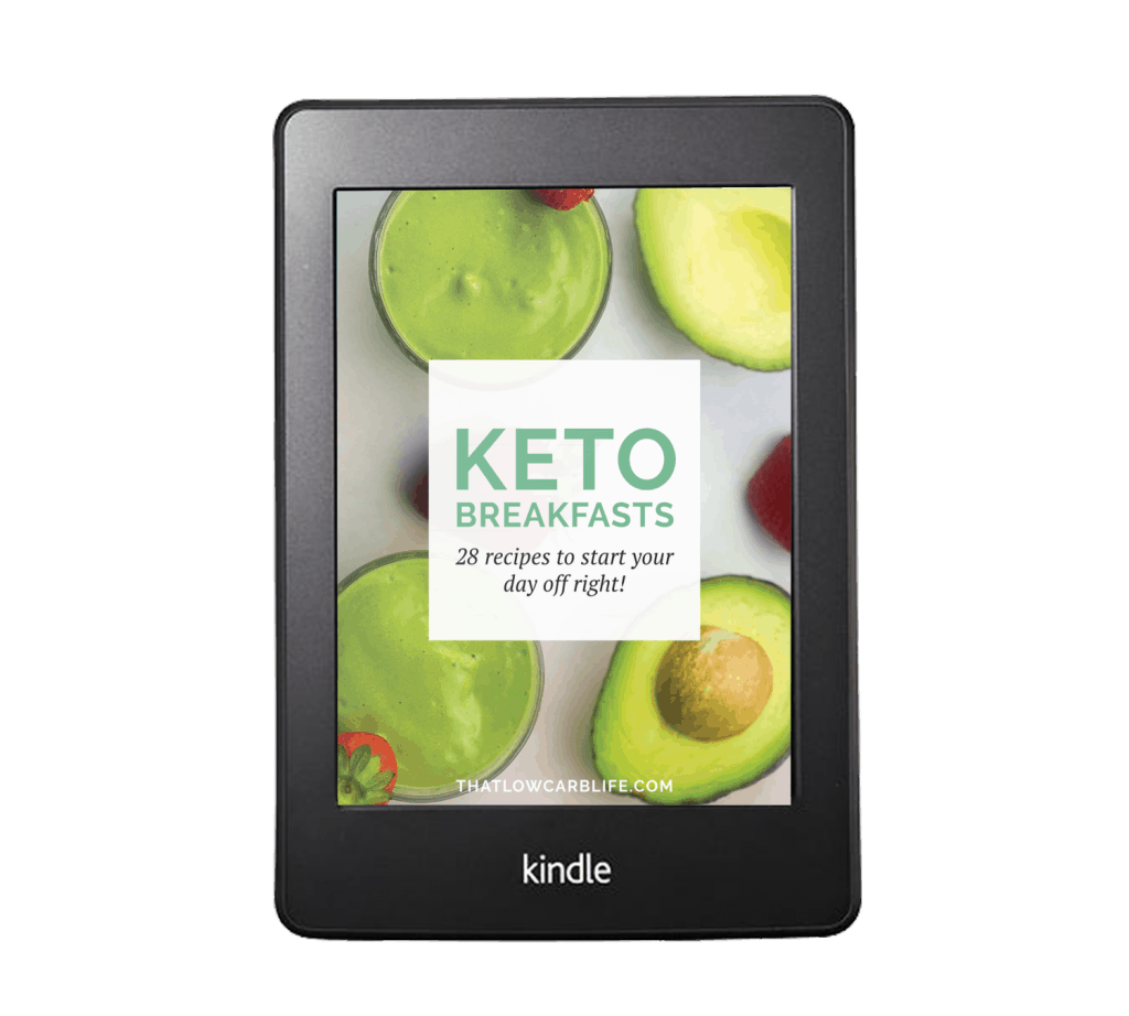 Keto Breakfasts eBook - 28 new recipes, most with 5 net carbs or less! #keto #lchf #lowcarb #breakfast