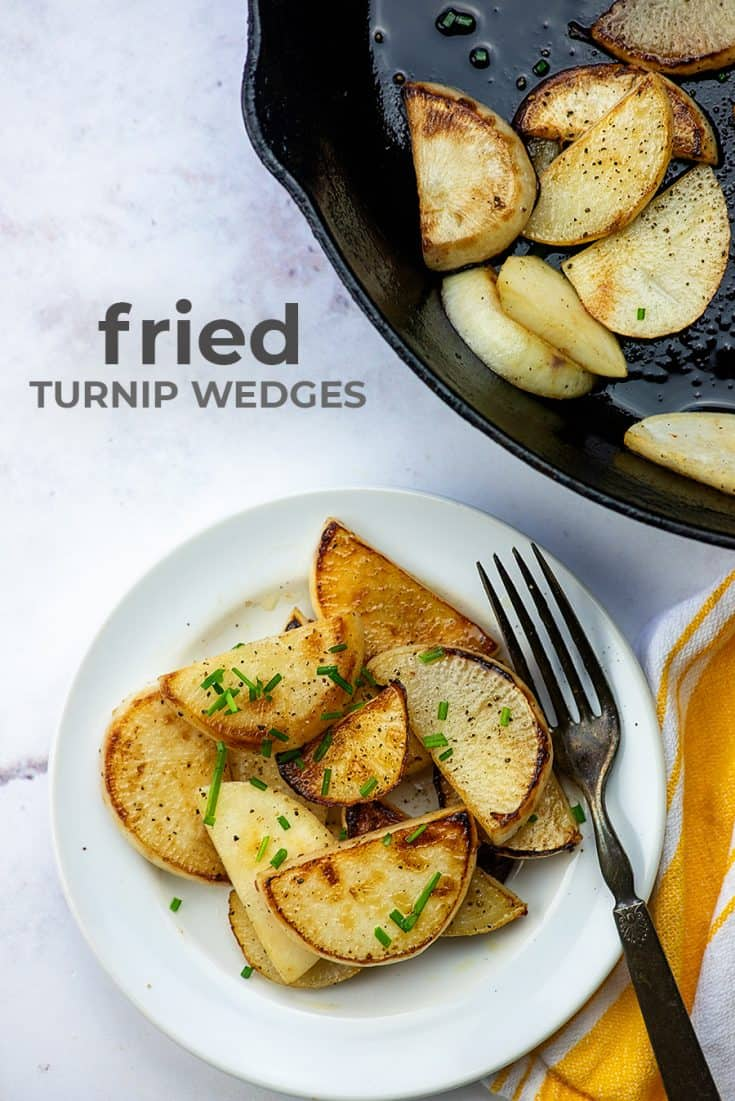 Low carb side dish!! These turnip wedges are so quick and they make a great keto side dish! #recipe #keto #lowcarb