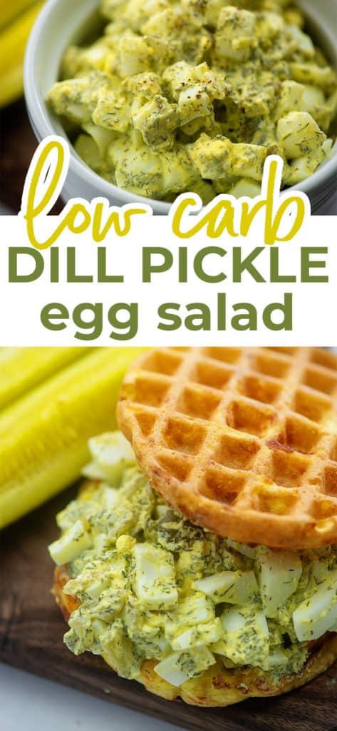 low carb egg salad sandwich photo collage