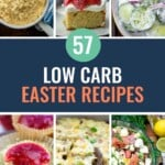 low carb easter recipe collage