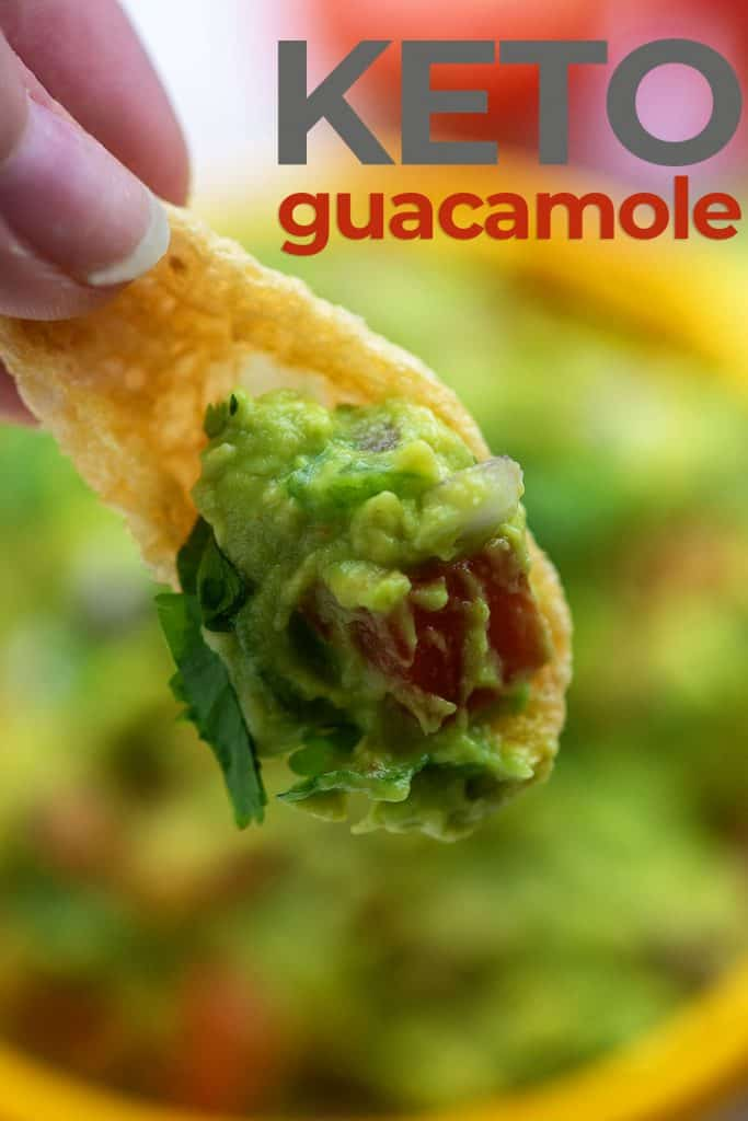 guacamole on pork rinds