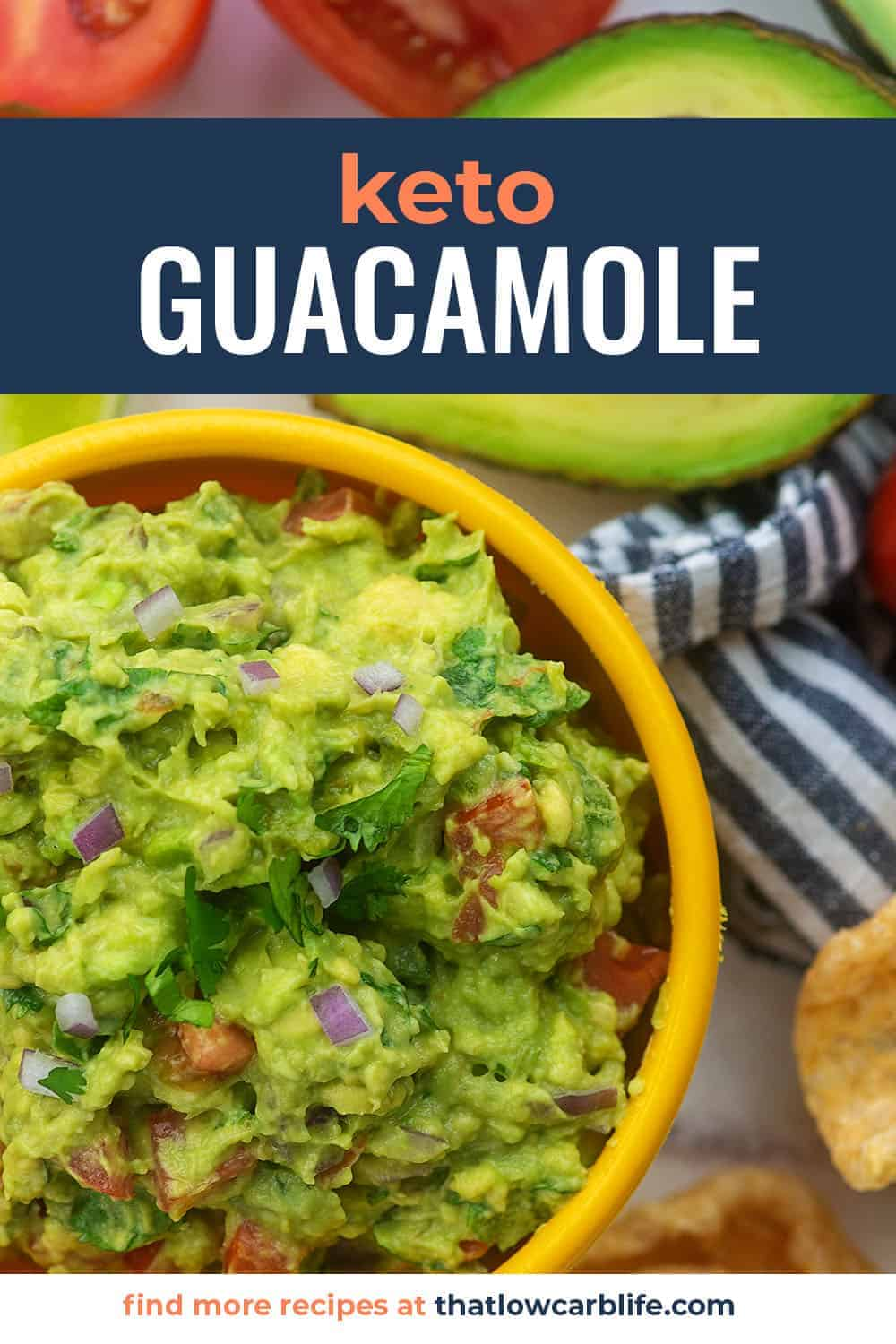 keto guacamole in yellow dish